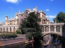 Коллеж St. Johns, Кембридж Стоковое Изображение