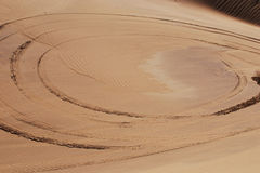 колейность в пустыне Стоковая Фотография