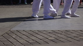 Коллективы танца представления в стиле бедр-хмеля сток-видео