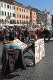 Колеривщики на аркаде Navona Стоковое Изображение RF