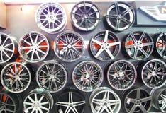 Колеса автомобиля сплава Стоковое Фото
