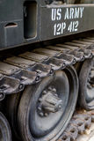 Колеса американского танка в Вьетнаме стоковые изображения