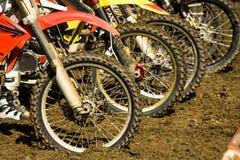 Колеса велосипеда грязи - конкуренция motocross Стоковые Изображения RF