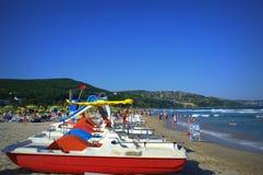 Колеса воды на пляже Albena Стоковая Фотография
