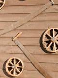 Колеса и пилы экипажа Стоковое фото RF
