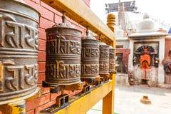 Колеса молитве на stupa Boudhanath Стоковые Изображения