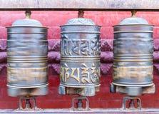 Колеса молитве на Swayambhunath Stupa Стоковое Фото