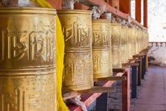 Колеса молитве Тибета Стоковые Фото