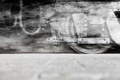 Колеса локомотива пара или колеса поезда пара Стоковая Фотография RF
