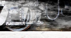 Колеса локомотива пара или колеса поезда пара Стоковые Изображения RF