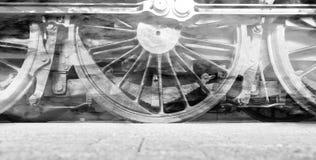 Колеса локомотива пара или колеса поезда пара Стоковая Фотография