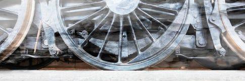 Колеса локомотива пара или колеса поезда пара Стоковое Изображение