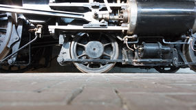 Колеса локомотива пара или колеса поезда пара Стоковое Фото