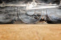 Колеса локомотива пара или колеса поезда пара Стоковые Изображения