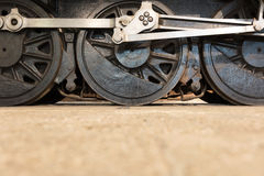 Колеса локомотива пара или колеса поезда пара Стоковые Фото