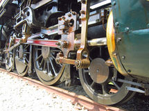 Колеса локомотива пара Стоковое Изображение RF