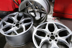 колеса спорта иконы автомобиля 3d Стоковое Изображение RF