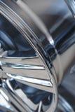 Колеса сплава автомобиля закрывают вверх Стоковая Фотография