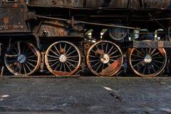 Колеса старого поезда Стоковое Изображение