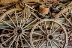 Колеса телеги Стоковая Фотография