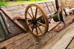 Колеса телеги Стоковая Фотография RF