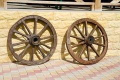 колеса тележки старые Стоковое Изображение RF