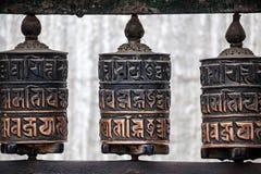 колеса тибетца молитве Стоковое Изображение
