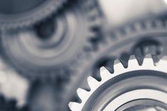 Колеса шестерни двигателя, промышленная предпосылка Стоковая Фотография RF