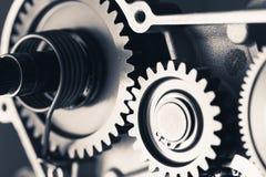Колеса шестерни двигателя, промышленная предпосылка Стоковые Фото