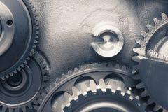 Колеса шестерни двигателя, промышленная предпосылка Стоковые Фотографии RF