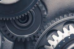 Колеса шестерни двигателя, промышленная предпосылка Стоковые Изображения RF