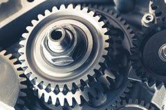 Колеса шестерни двигателя Стоковое Изображение