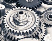 Колеса шестерни двигателя Стоковая Фотография