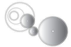 Колеса шестерни на белизне Стоковое фото RF