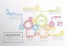 Колеса шестерни шаблона отчете о Infographic вектора Стоковая Фотография