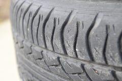 колесо автомобиля Резиновые автошины Резина лета установленная для автомобиля W Стоковые Изображения RF