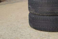 колесо автомобиля Резиновые автошины Резина лета установленная для автомобиля W Стоковые Фотографии RF