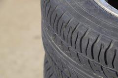 колесо автомобиля Резиновые автошины Резина лета установленная для автомобиля W Стоковая Фотография