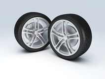 Колесо автомобиля Шприц концепции design Стоковые Изображения RF