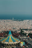 Колесо Барселона парка атракционов Tibidabo Стоковая Фотография