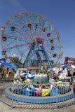 Колесо интереса на парке атракционов острова Coney Стоковые Изображения RF