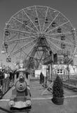 Колесо интереса на парке атракционов острова Coney Стоковое Изображение RF