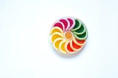 Колесо красочной конфеты на белой предпосылке Стоковая Фотография RF