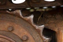 Колесо металла cog Backhoe Стоковые Фото