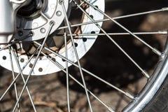 Колесо мотоцикла Стоковое Фото