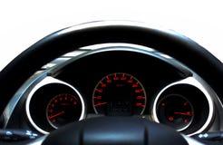 колесо перевозки управления рулем автомобиля нутряное Стоковая Фотография RF