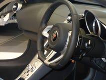 колесо перевозки управления рулем автомобиля нутряное стоковое изображение