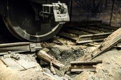 Колесо поезда взрыва Стоковое Изображение RF