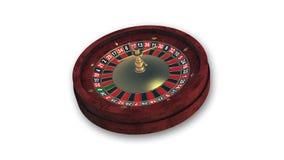 Колесо рулетки, играя в азартные игры игра изолированная на белизне Стоковое Фото