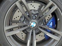 Колесо сплава гоночного автомобиля Bmw Стоковые Изображения